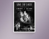 Custom Old Hollywood Save the Date Postcard