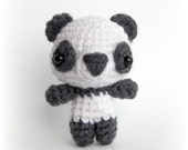 Amigurumi Cutie Panda Bear - Crochet Animal Plush Toy, Children's Gift, Amigurumi Bear, Handmade Plush