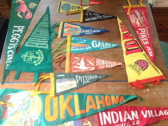 Vintage Felt Pennants 112