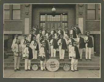 Pennsylvania high school marching music band antique photo