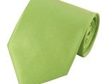 mens Pear green necktie custom made many colors