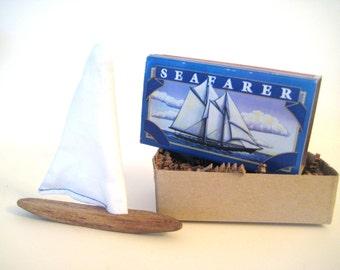 Matchbox Art,Pocket Boat,Driftwood Sailboat,Miniature Boat,Driftwood Art,Kids DIY Craft Kit,Driftwood Boat,Nautical Birthday,Toy Wood Boat