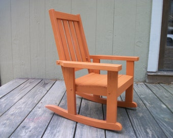 Child's (Toddler's)oak rocking chair (La Fonda Copper)