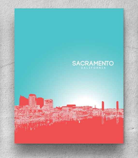 home decor stores sacramento home decor wall poster sacramento city skyline print 11227