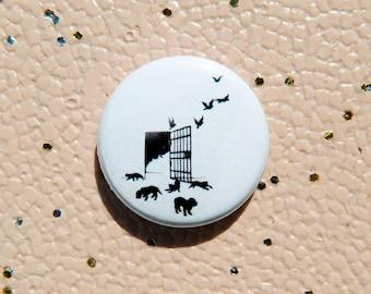 Vegan / Animal Liberation /  1 inch pin