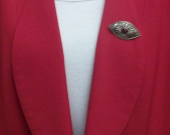 CLEARANCE SALE - 1980s vintage red blazer, Italian styled