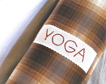 Yoga bag - brown check