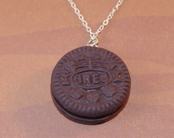 Mini Oreo Earrings and Necklace - Cute Biscuit Jewellery - Candy Jewellery - Cookie Jewelry - Oreo Jewelry - Oreo Jewellery - Miniature