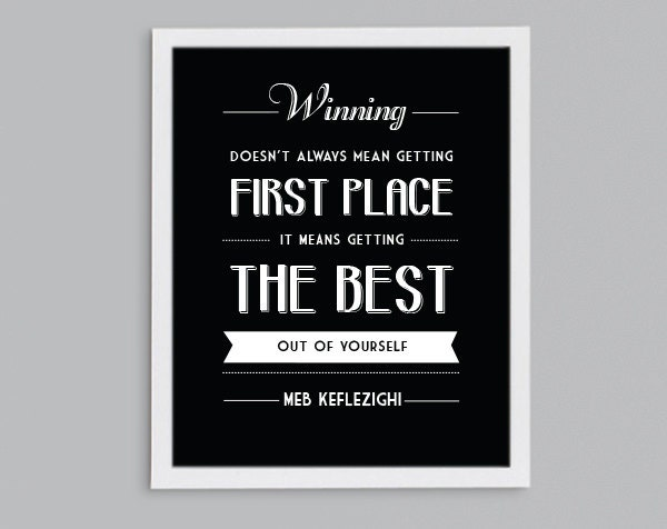 try your best classroom art winning means motivational