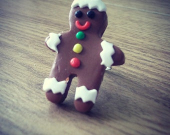 Gingerbread Man Ring
