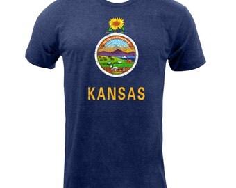 Kansas State Flag - Tri Indigo