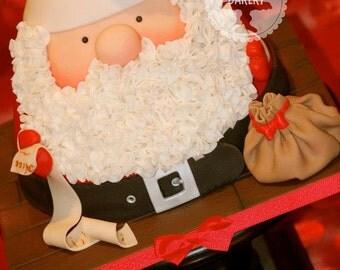 Santa Father Christmas Cake Tutorial