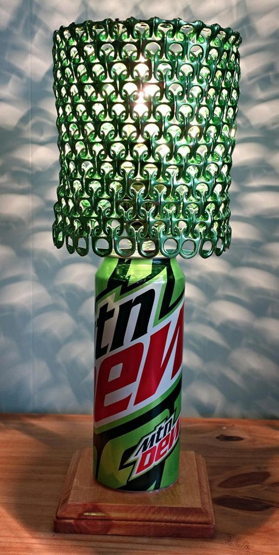 Mountain Dew Soda Can Lamp With Pull Tab By Licensetocraft