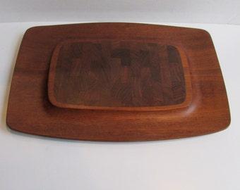 Dansk Teak Wood Serving Tray Cutting Board