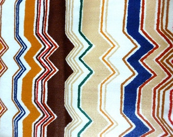 Vintage 1976 Riverdale Screenprinted Scotchgard Upholstery Fabric. ///Free Shipping to the US!\\\