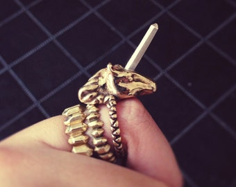 Crystal Unicorn Ring
