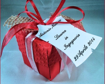1 Graduation favor boxes with bonbons