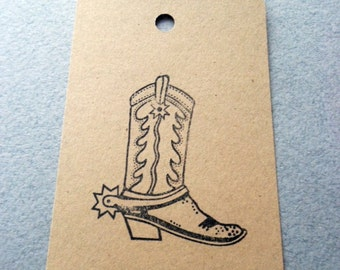 Cowboy Boot Paper Tags