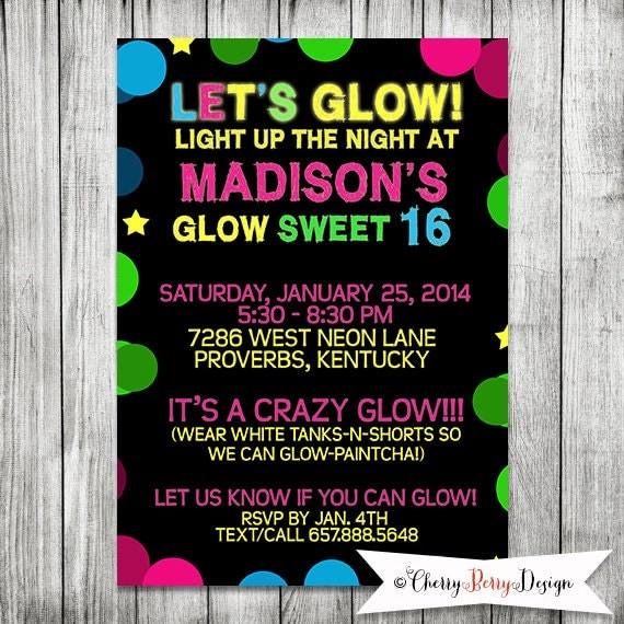 Sweet Sixteen Invitation with beautiful invitation design