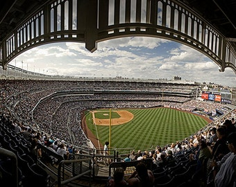 Yankee Stadium Panorama - 15x30 in. - New York Yankees - New York, NY - Wall Art - Wall Decor