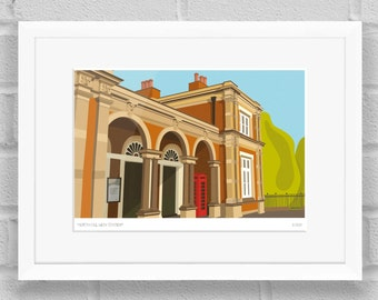 North Dulwich Station, London - Limited Edition Giclée Art Poster/Print
