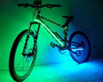 Bicycle Battery Powered LED Waterproof Light Strip Kit w/ Remote Control - 5050 LEDS