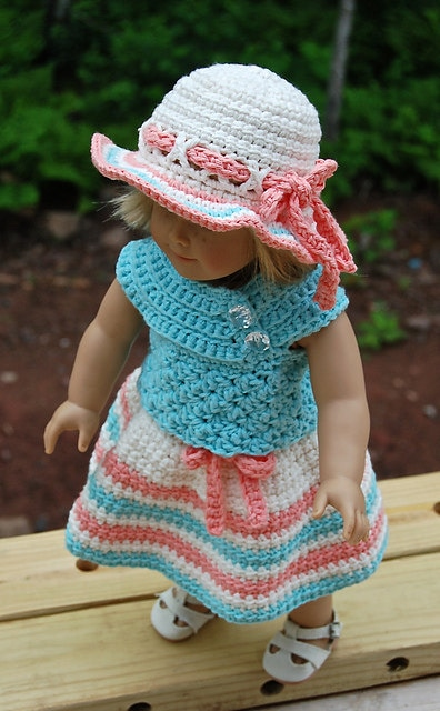 Crochet pattern sweet sassy 18 doll dress skirt for Selling shirts on etsy