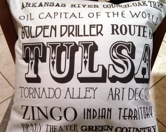 Tulsa Black & White Pillow Cover