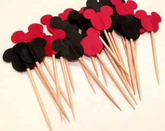 Mini and Mickey Mouse Cupcake Toppers/ Tooth Picks