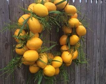 XL Lemon Wreath, Citrus Wreath , Home Decor