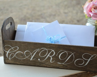 rustic card box, wood card box, shabby chic wedding decor, spring wedding decorations