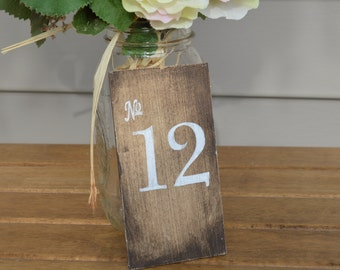 rustic wedding table numbers, wood table numbers, country wedding decor