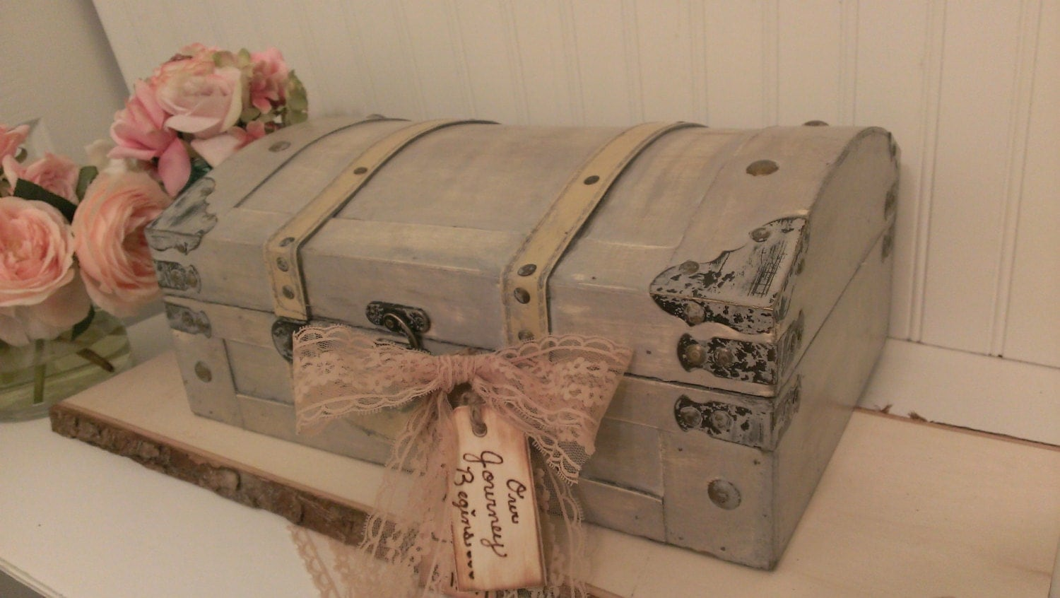 vintage wedding card box luggage card box shabby chic. Black Bedroom Furniture Sets. Home Design Ideas