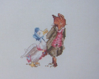 beatrix potter mr todd and jemima cross stitch CHART INSTRUCTIONS ONLY lakeland artist new