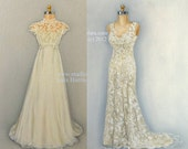 CUSTOM 2 in 1 Mother Daughter Portrait Wedding Dress Painting in OIL by Lara 11x14 Sister Best Friend