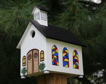 Christmas Church #2 Bird House