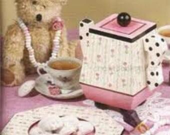 Priscillas Tea Party Decorative Tole Acrylic Painting Pattern Book for Teapots
