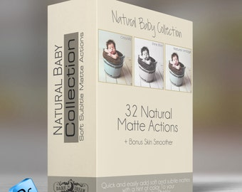 Natural Baby Collection - Photoshop   Actions - 32 soft , Subtle Mattes and Tool Actions