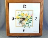SALE Seth Thomas French Garden Framed Tile Wall Clock by Talley Industries ***WAS 20.00