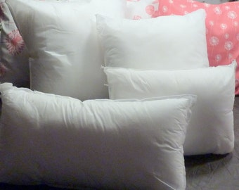 Pillow Inserts - Pillow forms - 100% Polyester Fiber fill - 8 sizes from 12x16 - 26x26