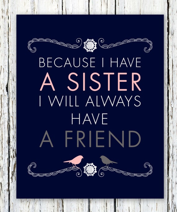 Sis Love My Com: Items Similar To Sisters Personalized Gift