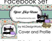 Facebook Timeline Cover - Custom Facebook Timeline Graphics - Facebook Cover and Profile - Sewing Timeline Graphics