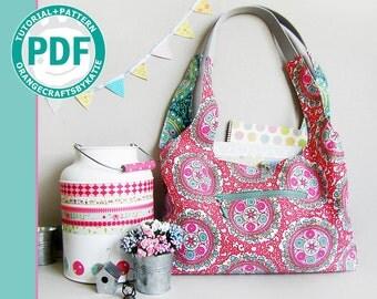 Reversible hobo bag / PDF / sewing tutorial and patterns / Shoulder Bag
