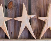 Wooden Star | Wood Star Cutouts | Rustic Christmas Decorations | Star Wooden Craft Shapes | Wood Christmas Stars | Christmas Crafts |