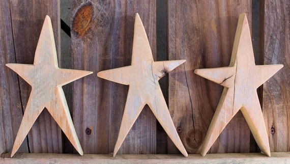 Wooden Star Wood Star Cutouts Rustic Christmas Decorations