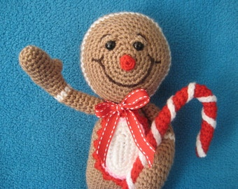 Amigurumi gingerbread man Christmas festive toy  doll PDF CROCHET PATTERN