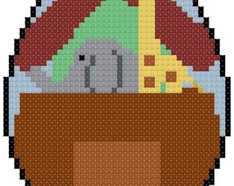 Fabu Egg 20 Noah's Ark Cross Stitch