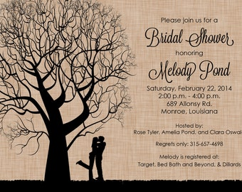Tree Bridal Shower Invitation