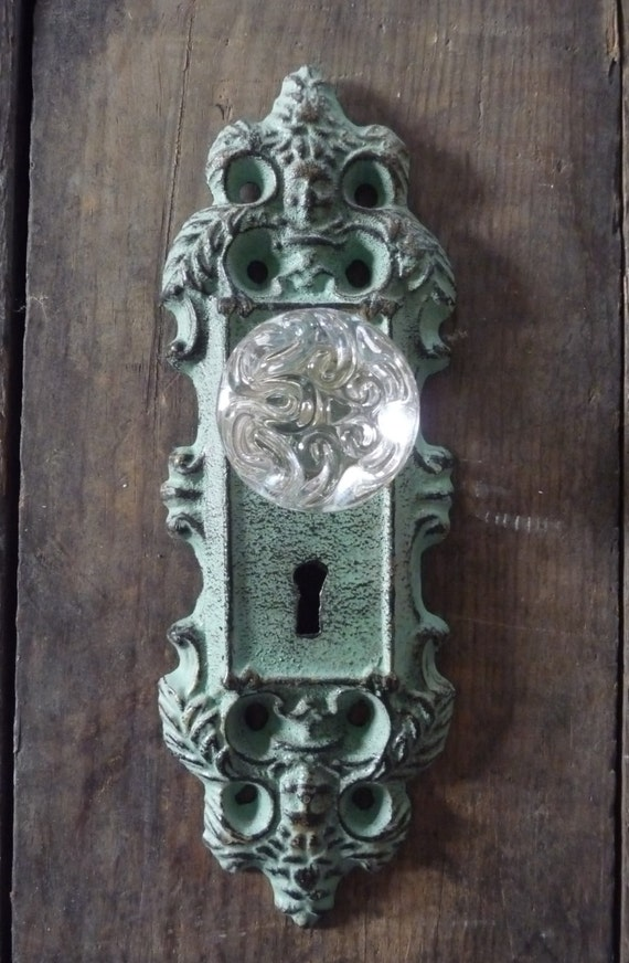Decorative Teal Green Vintage Style Cast Iron By