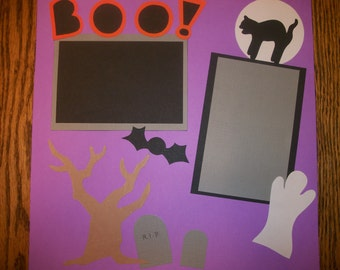 Items Similar To Halloween Scrapbook Page Silly Bones On